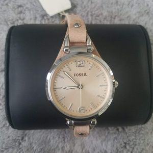 Fossil Stainless Steel Tan Leather Casual watch